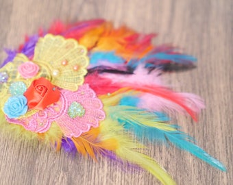 Raindow Applique/ Hair clip/ Headband