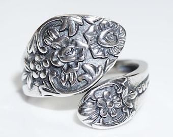 Sterling Silver (925) Spoon Ring, Plantation replica