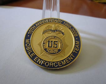 10th Anniversary Drug Enforcement Administration Mobile Enforcement Team Challenge Coin #2828