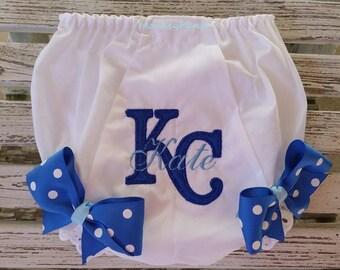 Royals Baby -  Girl's Baseball Diaper Cover - MLB Kansas City Royals Bloomers - Baby Gift