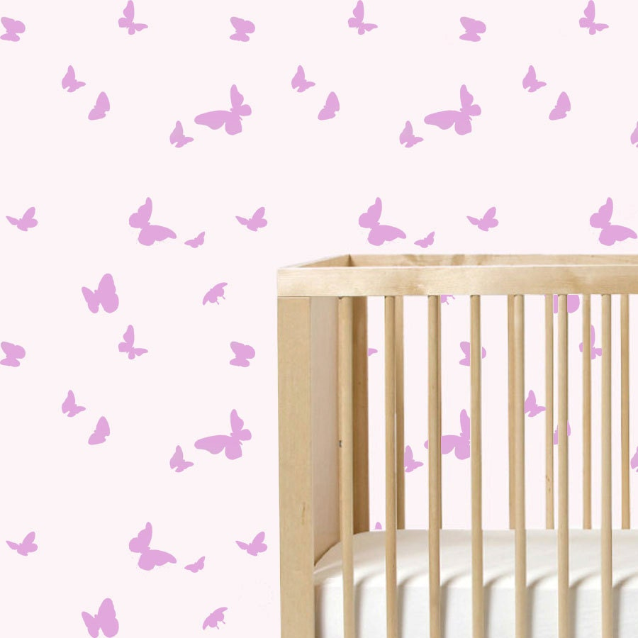 Butterfly wall stencil repeat pattern nursery stencil paint for Butterfly Wall Art Stencil  8lpfiz