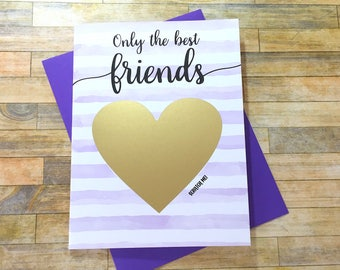 Pregnancy Scratch Off Card - Pregnancy Announcement to Friend - New Auntie - only the best friends get promoted to auntie - STRIPES