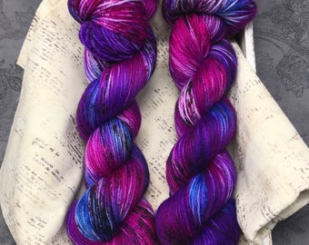 Faerie Fire - Hand Dyed Superwash Sock Yarn