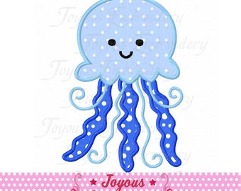 Instant Download Jellyfish Applique Machine Embroidery Design NO:2365