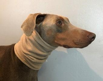 Fleece snood/ear warmer/scarf for dogs - Tan