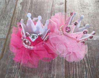 Baby princess crowns, birthday crown, baby crown, pink princess crown, baby crown clip