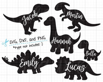 Dinosaur Silhouette SVG Files for Cricut or Silhouette Cute Baby Dinosaur SVG DXF Cut File T rex Simple Dinosaur svg dxf Clipart Clip Art
