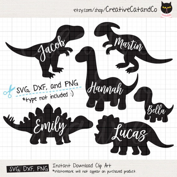 Download Dinosaur Silhouette SVG Files for Cricut or Silhouette Cute
