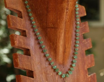 Emerald and Gold Coin Necklace
