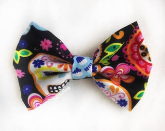 Day of the Dead Hairbow, Skull Hairbow, Dia de los muertos Hairbow, calaveras Hairbow