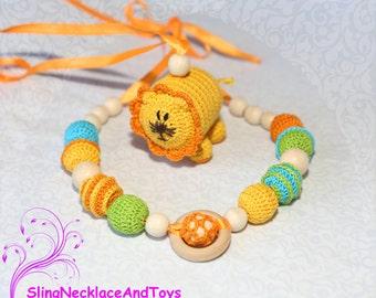 nursing jewelry teething necklace baby teether baby teething toy necklace nursing necklace teething breastfeeding baby rattle stroller toy
