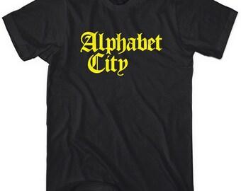 Alphabet City T-shirt - Gothic NYC Tee - Men and Unisex - XS S M L XL 2x 3x 4x - New York City - 4 Colors