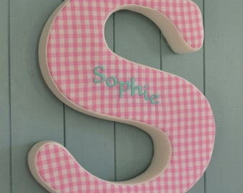 Personalised Large Fabric Wall Letters 35cm