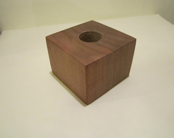 Handmade Wooden Stand / Homemade Candle Holder / Decorative Wood Cube / Dry Flower Vase / Home decor / Wooden Table Accessory