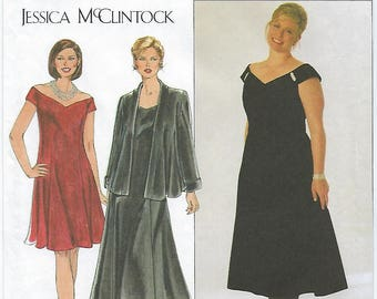 Simplicity 7857 - Jessica McClintock WOMENS Dress & Jacket