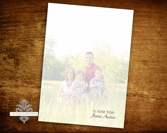 Personalized Photo Notepad - Monogram Notepad - Personalized Note Pad - Clothesline Photo