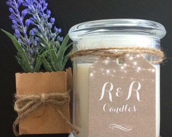 Large Soy Scented Candle - French Lavender