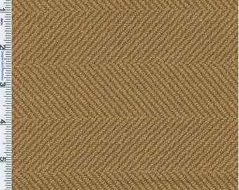 Soft Copper Herringbone Upholstery Fabric, Fabric By The Yard