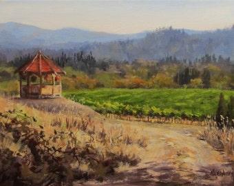 Time to Harvest - Original Vineyard Painting