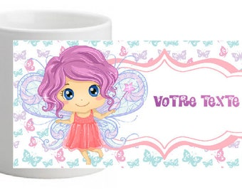 SMALL FAIRY UNBREAKABLE MUG PERSONALISED WITH THE TEXT OF YOUR CHOICE