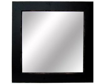 Black Wood Framed Mirror - Sundance