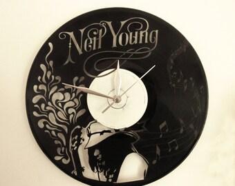 Neil Young vinyl wall clock
