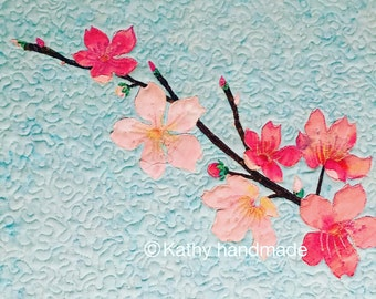 Handmade fiber art/quilting/--cherry blossom--customized products