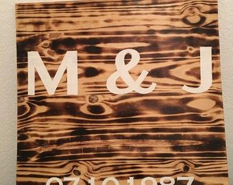 Anniversary Gift Reclaimed Wood/Rustic Wall Art Decor/Personalized Gift/Handmade/Custom Gift for Her/Custom Gift for Him/Burned Wood