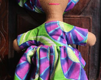 African Doll - Sandra Doll - African Toys - Multicultural Doll - Black Doll - Handmade Toy - Cultural Toys - African Orniment
