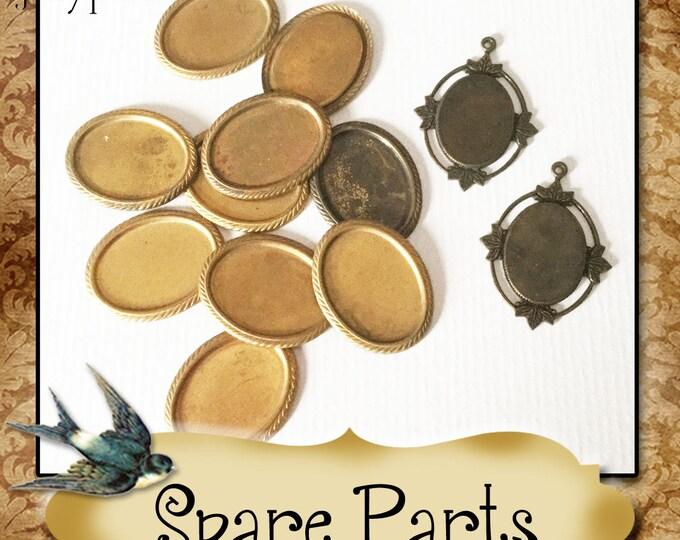 SPARE PARTS•Earring Parts•Necklace Parts•Vintage Components•Set 1