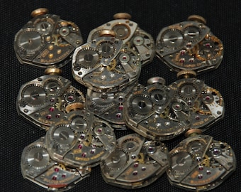 Vintage Watch Movements Parts Steampunk Altered Art Assemblage RT 72