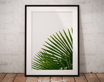 Palm Leaf, Palm Leaf Print, Tropical Leaf Print, Palm Tree Leaf Print, Tropical Wall Art, Palm Leaf Art, Palm Leaf Poster, Printable Leaf