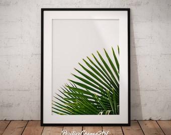 Palm Leaf, Palm Leaf Print, Tropical Leaf Print, Palm Tree Leaf Print, Tropical Wall Art, Palm Leaf Art, Palm Leaf Poster, Printable Leaf