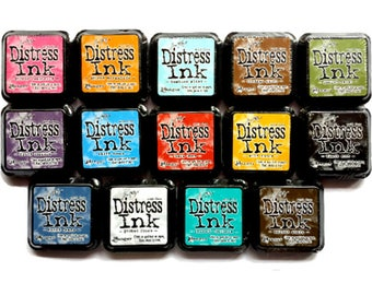 TIM HOLTZ DISTRESS ink pads, full size, Ranger, 14 colors to choose from, stamp inks stencil craft canvas wood paper paint scrapbook new