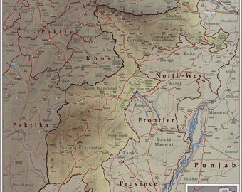 Poster, Many Sizes Available; Map Of Tribal Areas Fata Pakistan 2009