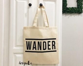 WANDER - Canvas tote bag