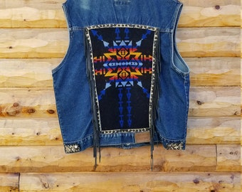 Tiger Star ~ Custom Vest ~ One of a Kind ~ XL men's