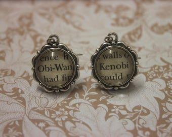 Obi-Wan Kenobi Earrings ~ Star Wars ~