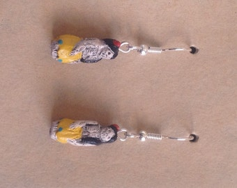 Hand Painted Day of the Dead Bead Earrings