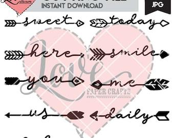 Word Arrow SVG File Set | Arrows | Arrow Word SVG | Pretty Words | Pretty Word SVG | Word Arrows | Pretty Cutting Files | Scrapbook Titles