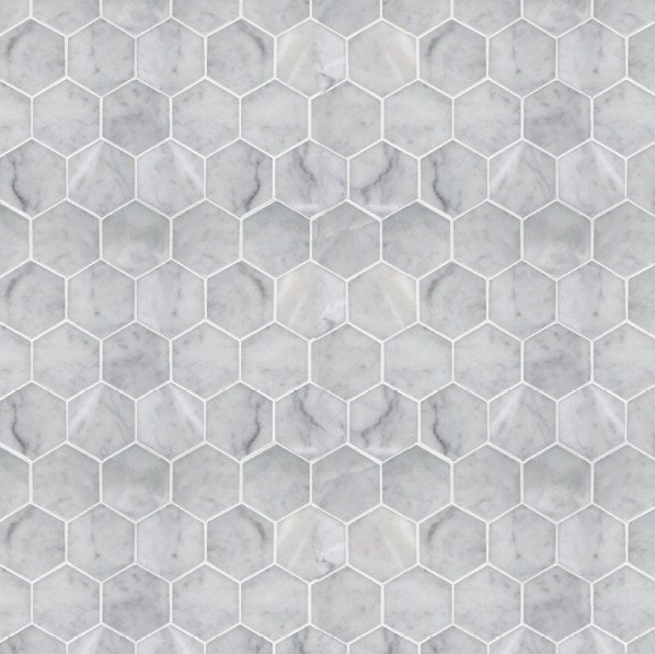Printable PDF Modern Dollhouse Wallpaper Hexagon Marble