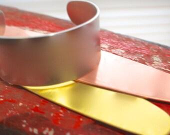Medium Tapered Cuff Bracelet blank - Any Metal Qty 3