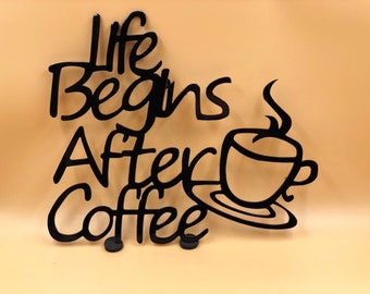 Life Begins After Coffee Wall Art