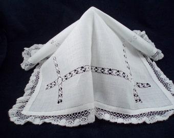 Antique Lace Ladies' Handkerchief Wedding Hankie, Bride's Hankie
