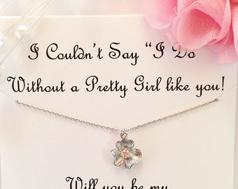 Flower Girl Proposal, Will You Be My Flower Girl Gift, Flower Girl Jewelry, Asking Flower Girl, Wedding Jewelry, Asking Bridal Party
