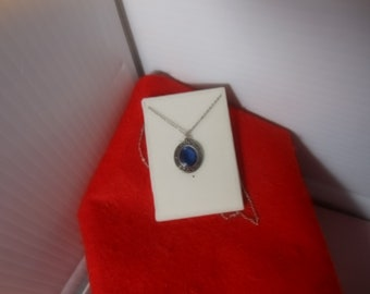 "Blue Desert Storm Pendant with 18"" chain"