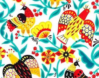 Folk Art drawing - Folk Birds framed art work