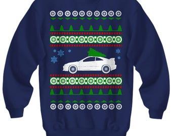 Acura Integra JDM Ugly christmas sweater xmas honda enthusiast motorsport jdm civic accord crx s2000