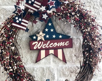 Fourth of July Large Wreath