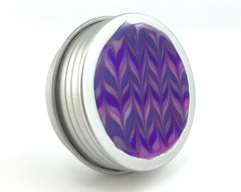 Small Purple Treasure Box - Purple Zig-Zag  - Jewelry Box - Trinket Box - Pill Box - Handmade - #189 - Ready to Ship